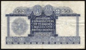 Malaya & British Borneo P.04b 50 Dollars 1953 (3)