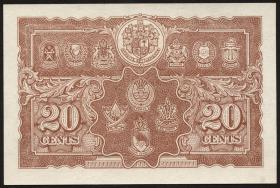 Malaya P.09a 20 Cents 1941 (1)