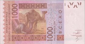 West-Afr.Staaten/West African States P.415Dj 1000 Francs 2013 Mali (1)