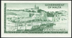 Malta P.25 10 Shillings (1963) (1)