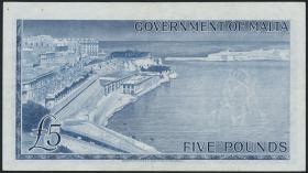 Malta P.27a 5 Pounds (1963) (3)