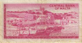 Malta P.28 10 Shillings 1967 (3)