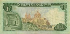 Malta P.31d 1 Lira 1967 (1973) (3)