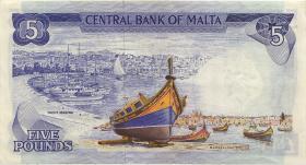 Malta P.32b 5 Liri 1967 (1973) (3)