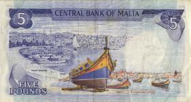 Malta P.32d 5 Liri 1967 (1973) (3)