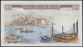 Malta P.33e 10 Liri 1967 (1973) (1)