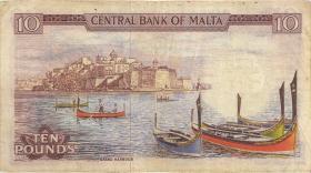 Malta P.33e 10 Liri 1967 (1973) (3)