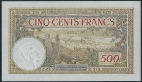 Marokko / Morocco P.15b 500 Francs 1948 (1)