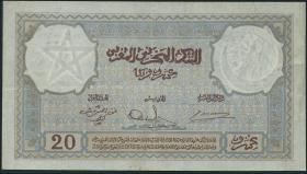 Marokko / Morocco P.18b 20 Francs 1941 (3)