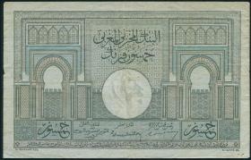 Marokko / Morocco P.21 50 Francs 1947 (3)
