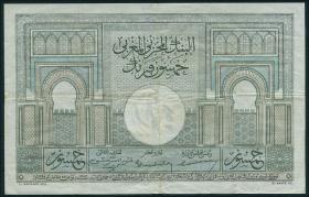 Marokko / Morocco P.21 50 Francs 1947 (3+)