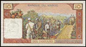 Marokko / Morocco P.54b 10 Dirhams (1963) (1-)