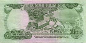 Marokko / Morocco P.58b 50 Dirhams 1985 (3)
