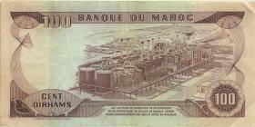 Marokko / Morocco P.59a 100 Dirhams 1970 (3)