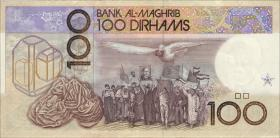 Marokko / Morocco P.62b 100 Dirhams 1987 (1/1-)