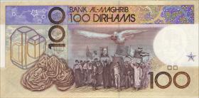 Marokko / Morocco P.65d 100 Dirhams 1987 (1)