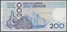 Marokko / Morocco P.66d 200 Dirhams 1987 (1)