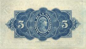 Martinique P.16b 5 Francs (1942) (1)