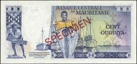 Mauretanien / Mauritania P.03A 100 Ouguiya 1975 Specimen (1)