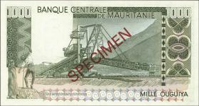 Mauretanien / Mauritania P.03c 1000 Ouguiya 1977 (1) Specimen