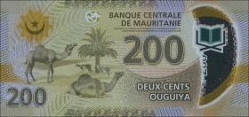 Mauretanien / Mauritania P.neu 200 Ouguiya 2017 Polymer (1)