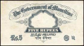 Mauritius P.20 5 Rupien (1930) (2)