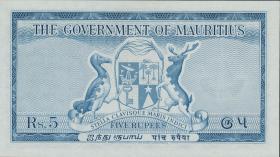 Mauritius P.27 5 Rupien (1954) (1)