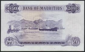 Mauritius P.33c 50 Rupien 1967 (2+)