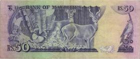 Mauritius P.37a 50 Rupien (1986) (3)
