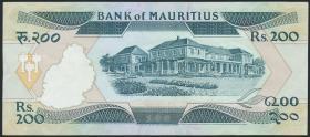 Mauritius P.39 200 Rupien (1985) (3+)