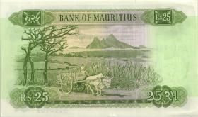 Mauritius P.32b 25 Rupien (1967) (1/1-)