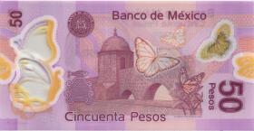 Mexiko / Mexico P.123Ae 50 Pesos 2015 Polymer (1)