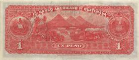 Mexiko / Mexico Banco Americano P.S116 1 Peso 1923 (2+)