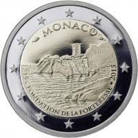 Monaco 2 Euro 2015 800 J. Bau des ersten Schlosses