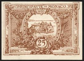 Monaco P.01a 25 Centimes 1920 (braun) (1)