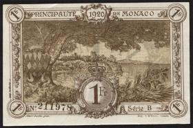 Monaco P.04b 1 Franc 1920 B (braun) (1)