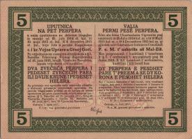 Montenegro P.M150 5 Perper 1917 (1)
