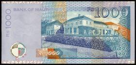 Mauritius P.54b 1000 Rupien 2001 (1)