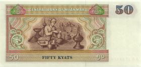 Myanmar P.73a 50 Kyats (1994) (1)