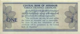 Myanmar P.FX1 1 Dollar (1993) (2)
