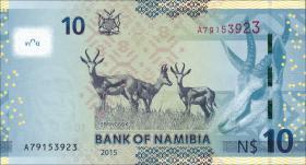 Namibia P.16 10 Namibia Dollars 2015 (1)