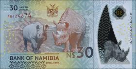 Namibia P.neu 30 Namibia Dollars 2020 Polymer (1)