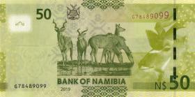 Namibia P.13c 50 Namibia Dollars 2019 (1)