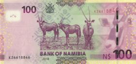 Namibia P.14b 100 Namibia Dollars 2018 (1)