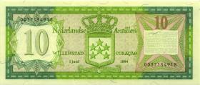 Niederl. Antillen / Netherlands Antilles P.16b 10 Gulden 1984 (1)