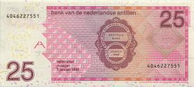 Niederl. Antillen / Netherlands Antilles P.29a 25 Gulden 1998 (1)