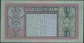 Ndl. Indien / Netherlands Indies P.079c 10 Gulden 1939 (1-)