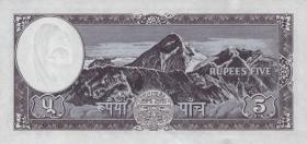Nepal P.13 5 Rupien (1961) Mt. Everest (1)