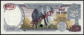 Nepal P.36bs 1000 Rupien (1981-) Specimen (1)