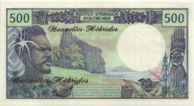 Neue Hebriden / New Hebrides  P.19a 500 Francs (1970) (1)